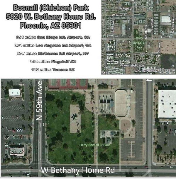Bonsall Park (Chicken Park) (Harry Bonsall Sr Park N) Racquetball Tournament Location and Map