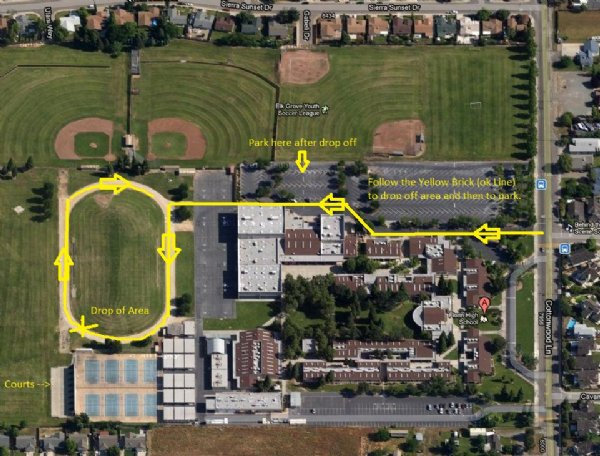 Florin High School Racquetball Tournament Location and Map