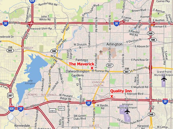 Maverick Athletic Club Racquetball Tournament Location and Map