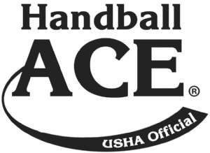 USHA Official Red Ace & White Ace Handballs Logo