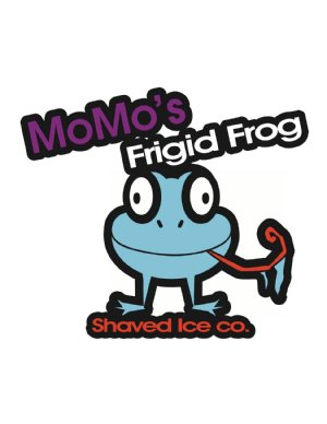 MoMo's Frigid Frog Logo