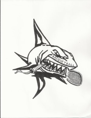 Racquetball Shark Logo