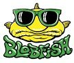 Blob Fish Fishing Sunglasses Logo