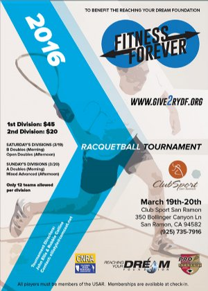 Racquetball Tournament in San Ramon, CA USA