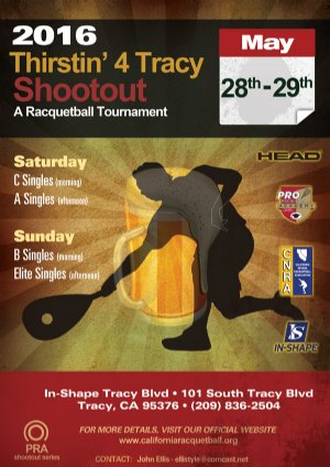 Racquetball Tournament in Tracy, CA USA
