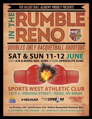 Racquetball Tournament in Reno, NV USA