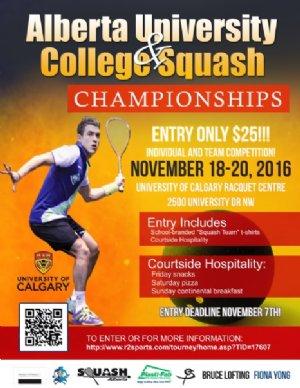 Alberta University & College Squash Championships