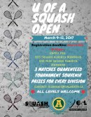 U of A Squash Open 2017