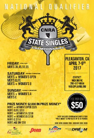 CNRA State Singles & National Singles Qualifier