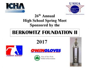 The 26th Annual ICHA Berkowitz II High School Spring Handball Meet