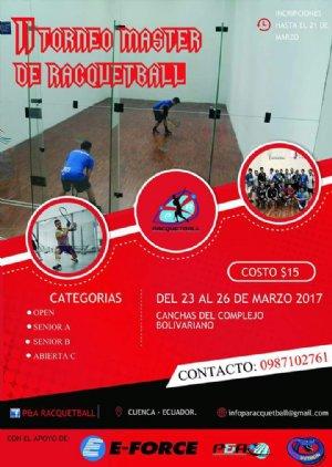 II Torneo Master de Racquetball