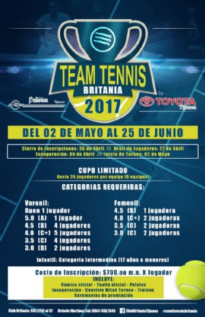 TEAM TENNIS BRITANIA 2017 by TOYOTA