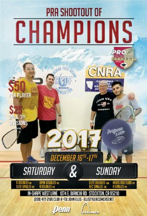 Racquetball Tournament in Stockton, CA USA
