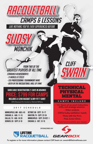 Cliff Swain and Sudsy Monchik Camp and Lessons