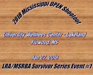 2018 Mississippi OPEN shootout Survivor Series event #1