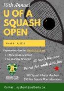 U of A Squash Open 2018