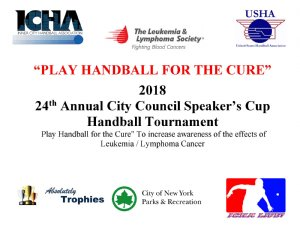 2018 Speaker's Cup ( formerly The Mayor's Cup) Handball Tournament