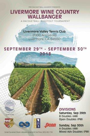 Racquetball Tournament in Livermore, CA USA