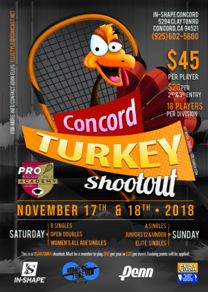 Racquetball Tournament in Concord, CA USA