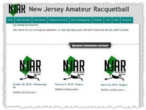 Racquetball Tournament in Hillsborough, NJ USA