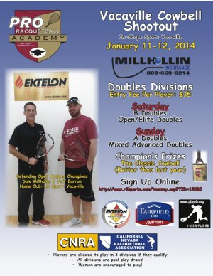 Racquetball Tournament in Vacaville , CA USA
