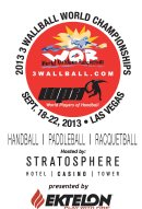 2013 3 Wallball World Championships Racquetball