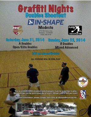 Racquetball Tournament in Modesto, CA USA