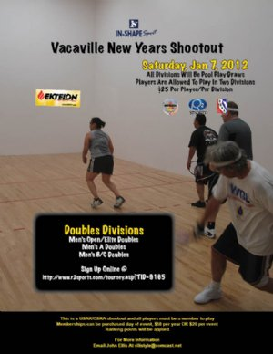 Racquetball Tournament in Vacaville, CA USA