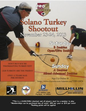 Racquetball Tournament in Fairfield, CA USA